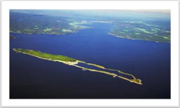 """Fig. 8""""Dopo la cura"""". Ecco come si immaginano alla NOAH la loro isola nel futuro, una volta chiusa definitivamente la discarica e completate le opere di ristrutturazione ambientale."""