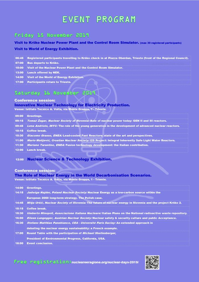 Locandina Nuclear Days Program